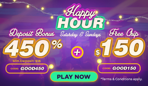 Exclusive Happy Hour Promotions form Slots 7 Casino
