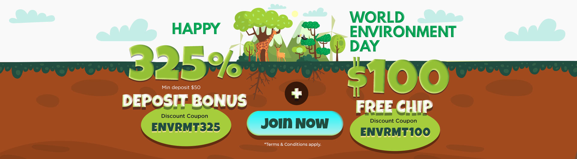 World Environment Day Promotions from Slots 7 Casino
