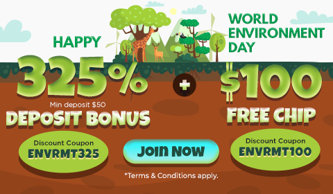 World Environement Day Promotions from Slots 7 Casino