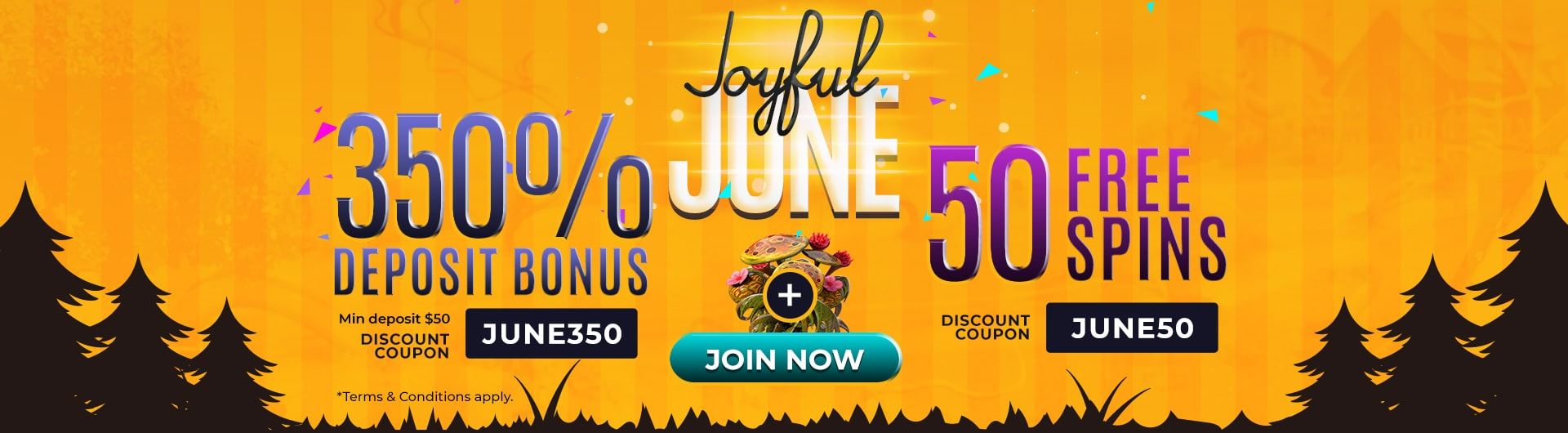 Joyful June Promotions from Slots 7 Casino