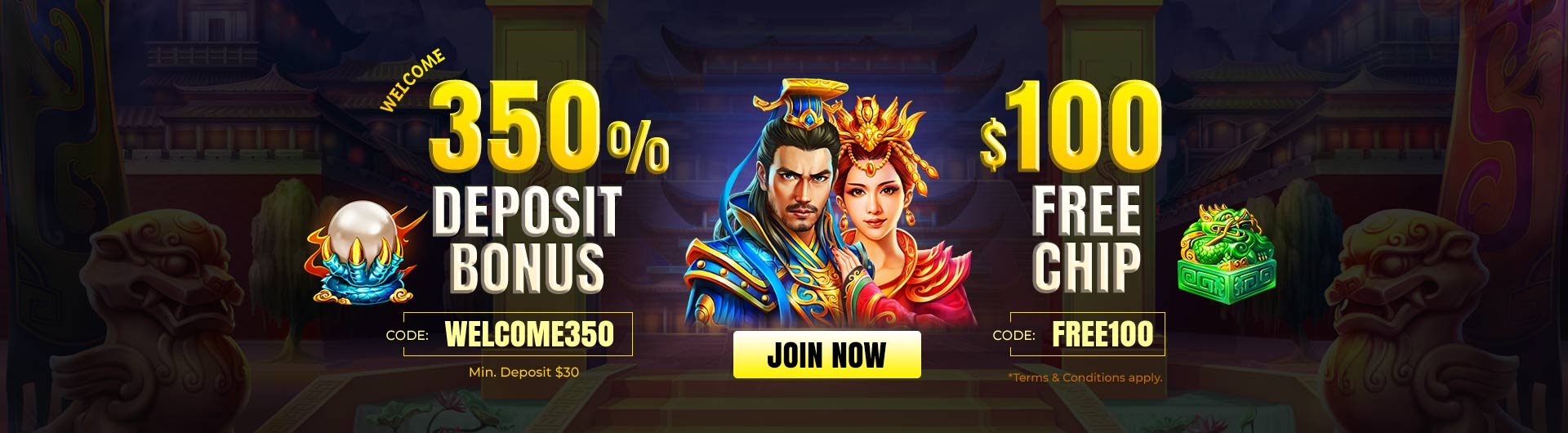 Exclusive Welcome Offer with $100 Freechip